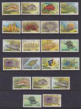Barbados 1985-87 Used FU Definitives Marine Life Fish Turtles Crab Worms Anemone