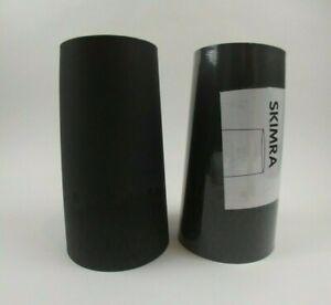 2 Ikea Skimra Black Lamp Shade 401.541.37 NEW