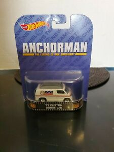 Hot Wheels Anchorman '77 Custom Dodge Van - KVWN San Diego - NEW.