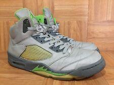 881954902d7a RARE🔥 Nike Air Jordan 5 V Retro Green Bean Flint Gray Sz 12 3M 136027