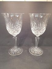 Two (2) Rogaska Crystal Maymont Red Wine Glasses Gorgeous