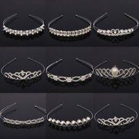 Women Crystal Pearl Tiaras Crown Flower Headband Bride Wedding Hair Jewelry