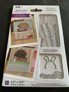 GEMINI PEEK-A-BOO BUNNY STAMP AND DIE COLLECTION - REDUCED!!!!