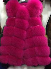 Jacket Coat Warm Gilet Outwear Vest Faux Fox Fur  Women's Waistcoat 9 *Colours