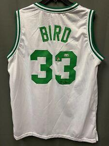 Larry Bird HOF #33 Signed Boston Celtics Jersey AUTO BAS WITNESSED COA Sz XL