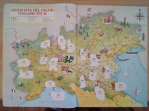 Album Figurine Calciatori Panini 1975-76 , Geografia Del Calcio Italiano