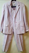 Talbots Size 14 Lilac Purple 3 Piece Suit  Lined Blazer Skirt Pants Career Wear