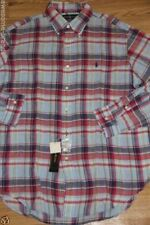 Polo Ralph Lauren Linen Men Shirt Small Pony Large L  Classic Fit