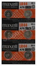 GENUINE Maxell LR44 AG13 A76 L1154 Battery [6-pack]