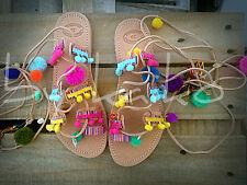 "Boho sandals,leather gladiator,greek handmade,""AMAZONA""pom pom sandals."