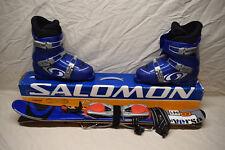 Salomon L90 Mini Verse Snowblades 90cm Package with Salomon Blue Ski Boots