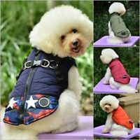 Waterproof Pet Dog Clothes Winter Warm Padded Coat Puppy Vest Jacket S M L XL