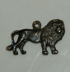 Nice Vintage Metal Small LION Shaped Necklace Charm Cracker Jack Premium Toy