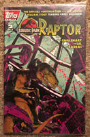 Topps Comics Jurassic Park Raptor #2 Comic Book SEALED With Cards!