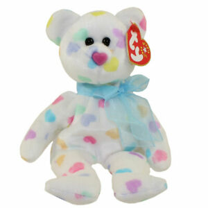 TY Beanie Baby - KISSME the Valentines Bear (8 inch) - MWMTs Stuffed Animal Toy