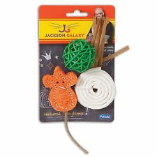PETMATE JACKSON GALAXY ALL NATURAL PLAY TIME 3 PACK KITTEN CAT TOY. USA
