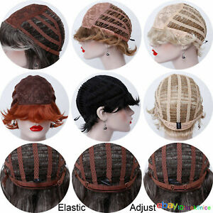 Short Finger Wave Wig Hair Natural Daily Retro Classic Women Full Wigs