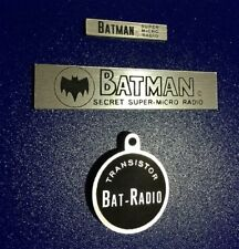 CUSTOM BATMAN 1966 SUPER-MICRO SECRET BAT RADIO REPLACEMENT PLASTIC FOB & PLATES