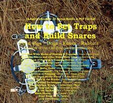 CD- Learn to Build & Set Traps & Snares - 16 eBooks + 20 Bonus Books