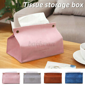 Reusable PU Tissue Box Case Napkin Paper Storage Organizer Holder Dispensing **