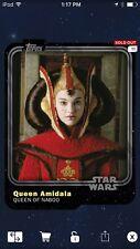 Topps Star Wars Digital Card Trader Queen Amidala Spectrum Black Variant Award
