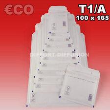 Lot 200 Enveloppes à bulles pochettes Blanches ECO 100x165 mm 1/A (ext. 120x175)