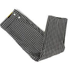 NWT Rafaella Comfort Black & White Gingham Twill Capri Pants Size 8