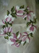 Bucilla Finished Needlepoint Flower Bouquet 27x27 Inch Canvas