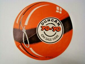 """Vintage """"Duncan Yo-Yo On Sale Here"""" Point of Purchase Paper Sign by Flambeau"""