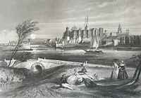Angers towards 1840 per Rouargue Maine-Et-Loire Country of the Loire