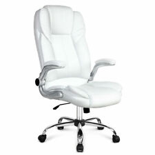 Artiss PU Leather Executive Office Desk Chair - White