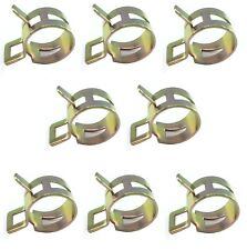Fuel / Oil Line Clips - 10mm - Yellow Passivated - Pack of 8 - Suzuki GT750