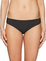 Seafolly 170568 Womens Active Hipster Bikini Bottom Swimsuit Solid Black Size 6