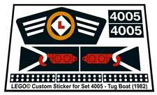 Lego® Custom Sticker for Boat set 4005 - Tug Boat (1982)