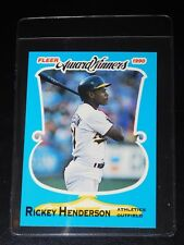 1990 FLEER AWARD WINNERS RICKEY HENDERSON CARD #18 of 44 (Near-Mint - Mint)