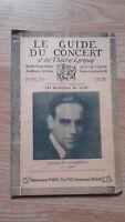 El Guía de La Concierto Y Las Teatro Letra - Antonio Lucas Moreno - N º 22-1928