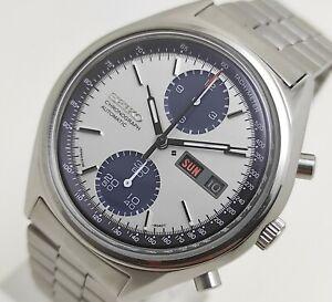 Seiko Panda Automatic Chronograph 6138-8020 Excellent Condition Men's Wristwatch