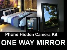 Mobile Phone Hidden Camera Kit, iPhone Into a Spy Camera! One / Two Way Mirror