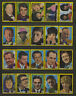Complete Set of 40 Vlinder Movie Music Star Vintage 1960s Matchbox Label C Serie