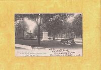 MI Muskegon 1905 antique postcard KEARNY MONUMENT Michigan TO New Haven CT Park