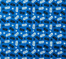 Star Wars Logo Tossed on Blue 100% Cotton Fabric sold by FAT QUARTERS 18''x21""