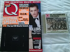 Q Magazine + Free CD Issue July 2005 - The Killers Glastonbury Jukebox Like New