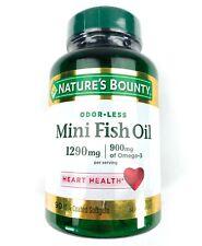 Nature's Bounty Mini Fish Oil 1290 mg/900mg Omega-3 90 Coated Softgels 1/2022