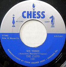 CLEFS doowop Chess Repro UNRELEASED near-mint 45 WE THREE b/w RIDE ON bb3535