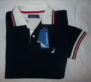NWT MEN'S Nautica S/S Active Polo Shirt Shirt~NAVY~SZ SM