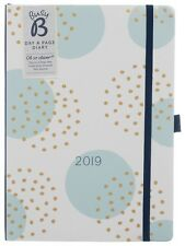 Busy B 2019 A5 Diary Day to Page Layout In White Pages With Place Marker