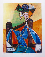 Pablo Picasso SEATED WOMAN IN ARMCHAIR Estate Signed & Numbered Small Giclee