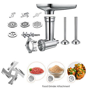 Stainless Steel Food Grinder Attachment Slicer Meat Stuffer for KitchenAid