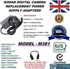 UK 5V AC/DC POWER ADAPTER CHARGER PLUG FOR KODAK EASYSHARE DIGITAL CAMERA M381