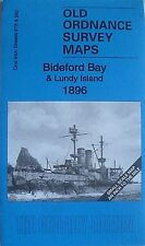 Old Ordnance Survey Map Bideford Appledore Lundy Island 1896 S275/292 New Map